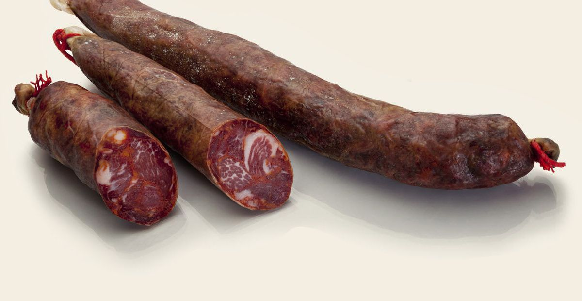 Bellota iberico pork cured loin chorizo